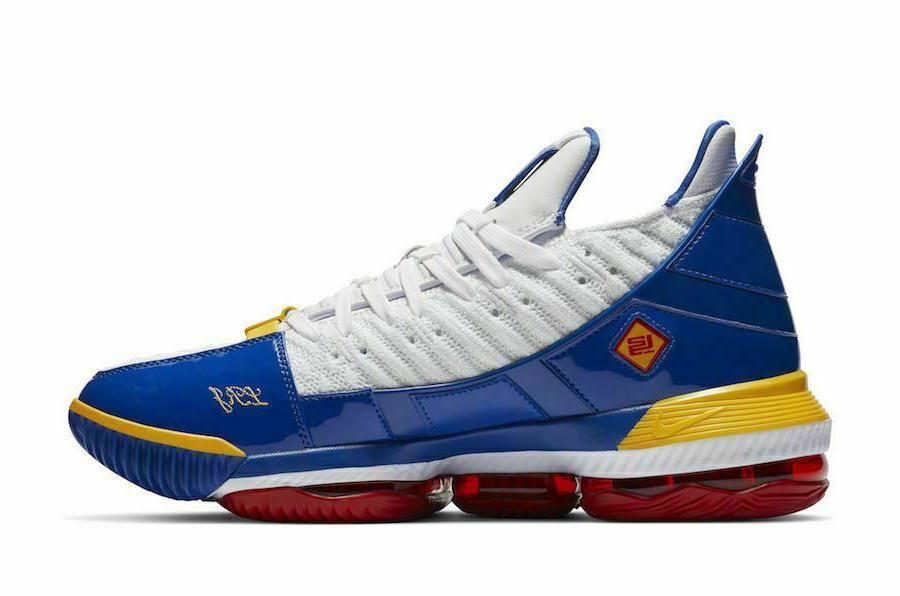 "Nike XVI ""SuperBron"" White Red Basketball Shoes Men's"