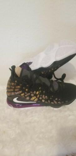 lebron xvii 17 lakers black purple eggplant