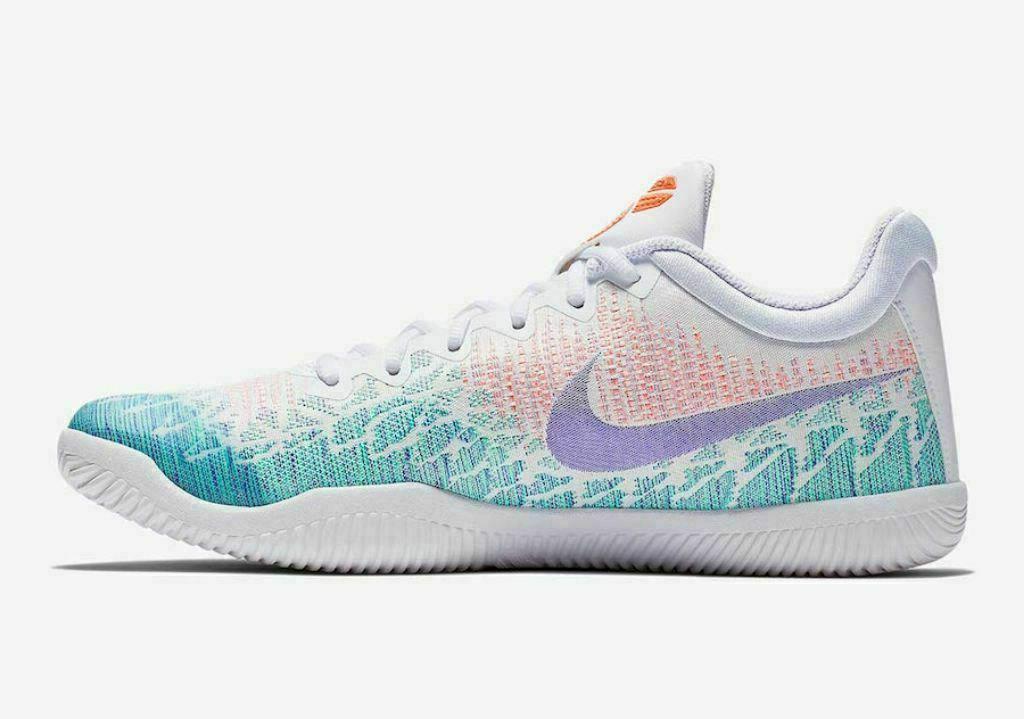 Nike Mamba Rage Mens Basketball Shoes White Grape Green Glow Kobe