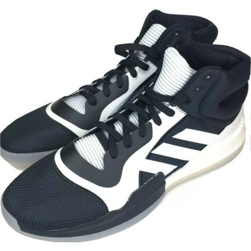 marquee boost black white 3 stripe basketball
