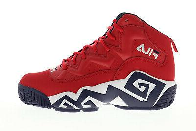 Fila Mb 1BM00510-616 Red High Top Lace Up Gym Shoes