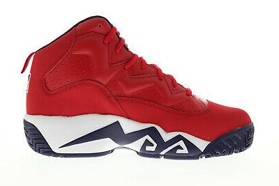 Fila Mens Red High Up Athletic Shoes