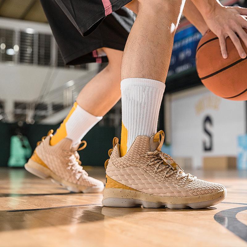 Men <font><b>Basketball</b></font> <font><b>Shoes</b></font> LBJ Basket Trainers Ankle Shockproof Couple <font><b>Basketball</b></font> <font><b>Shoes</b></font> Baloncesto