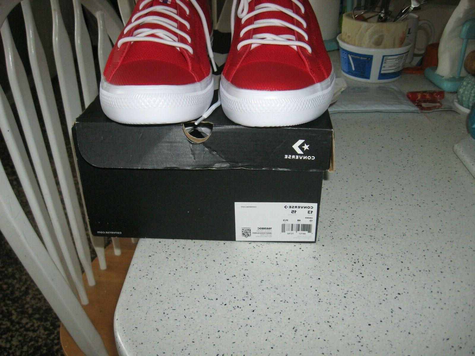 CONVERSE Men's Basketball Shoes, Red 13Men,Size Women,