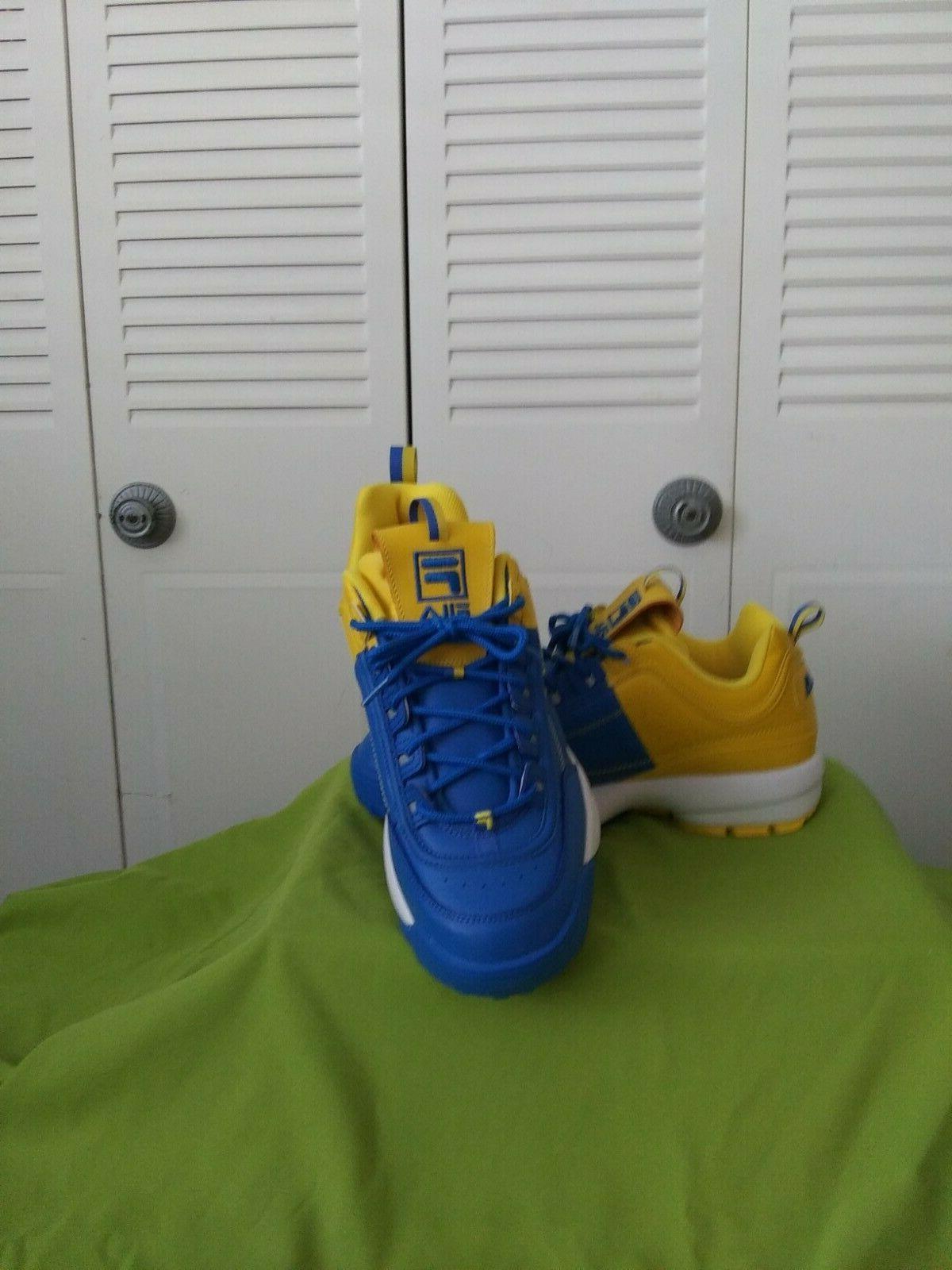 Men's Fila Basketball shoes size 11.5,blue/yellow, new w/o b