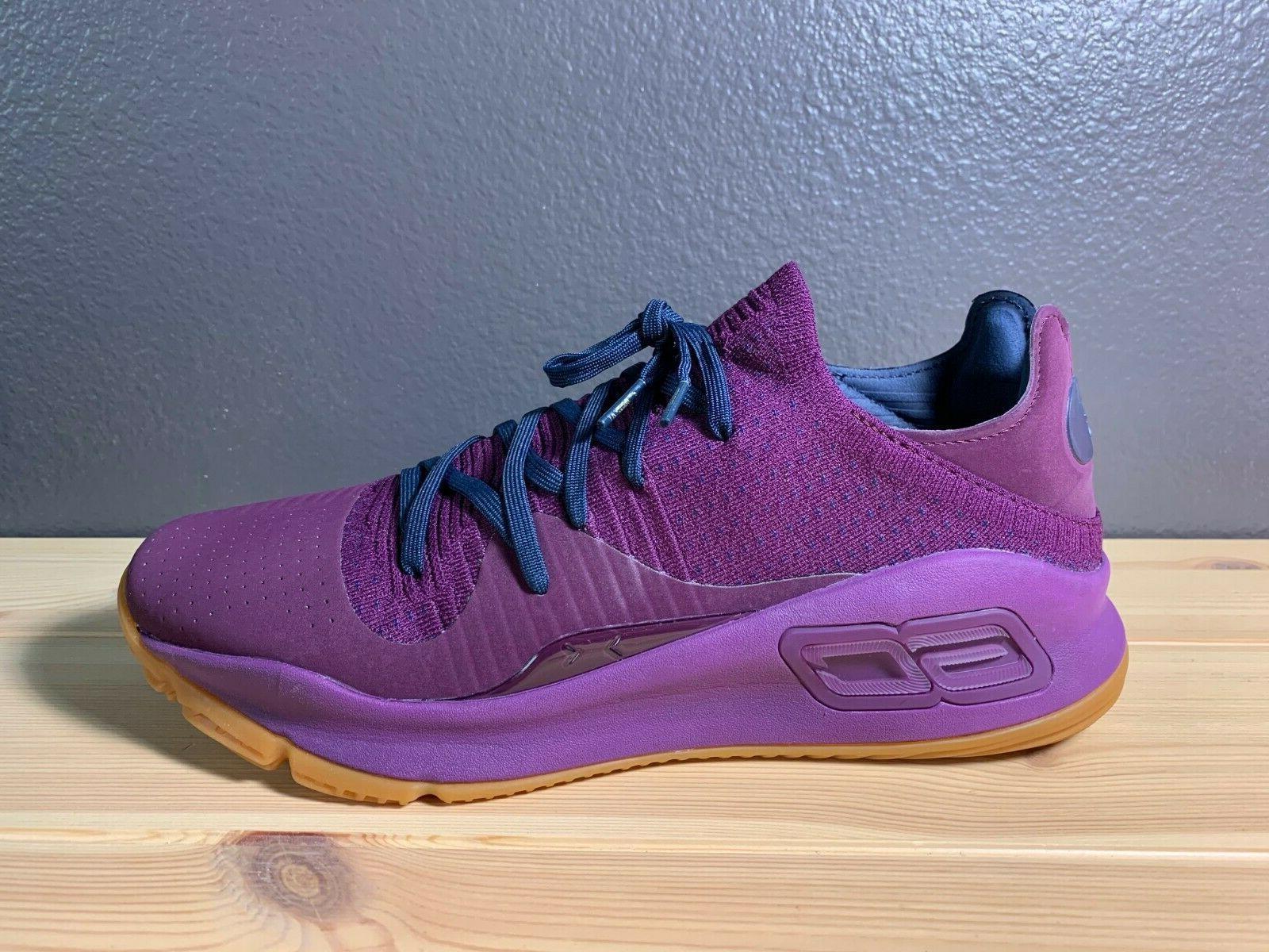 Men's 4 Merlot Purple Shoes 3000083-500 Size