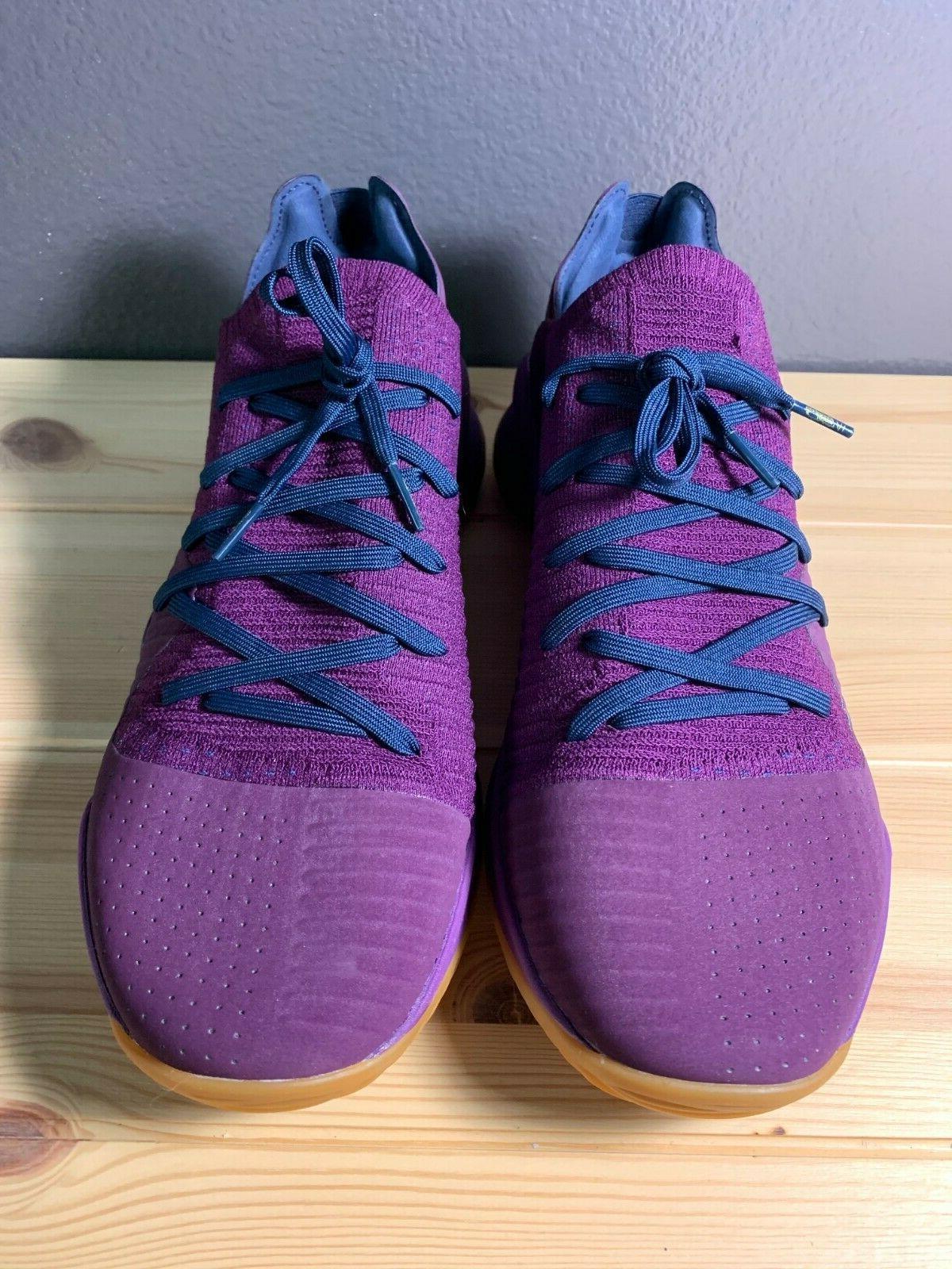 Men's Under Curry 4 Merlot Basketball Shoes 3000083-500