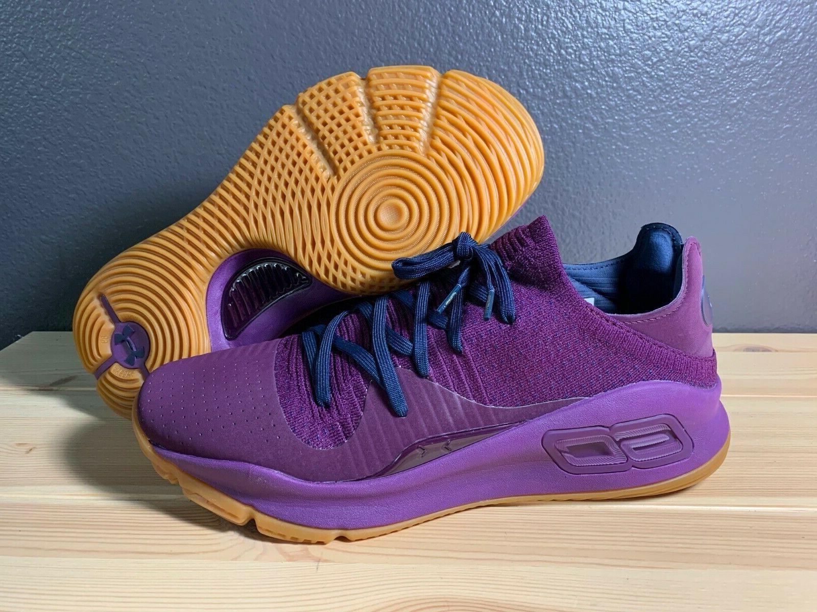men s curry 4 merlot purple basketball