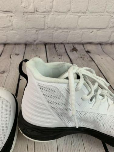 Under Men's Mid Basketball Shoe, 100/Black,
