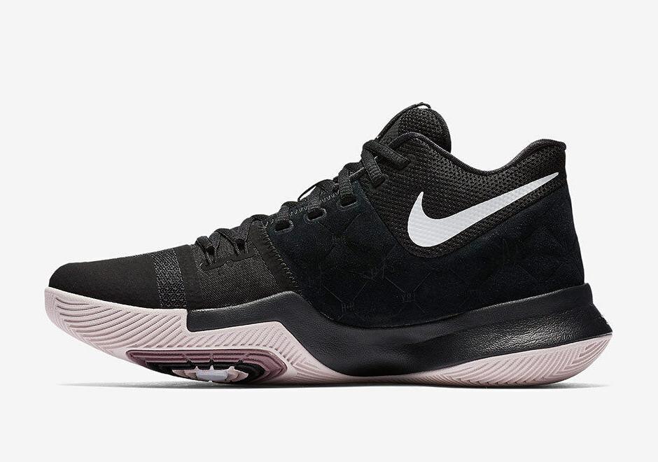 Nike KYRIE 3 BLACK RED Basketball Shoes Black/Silt b