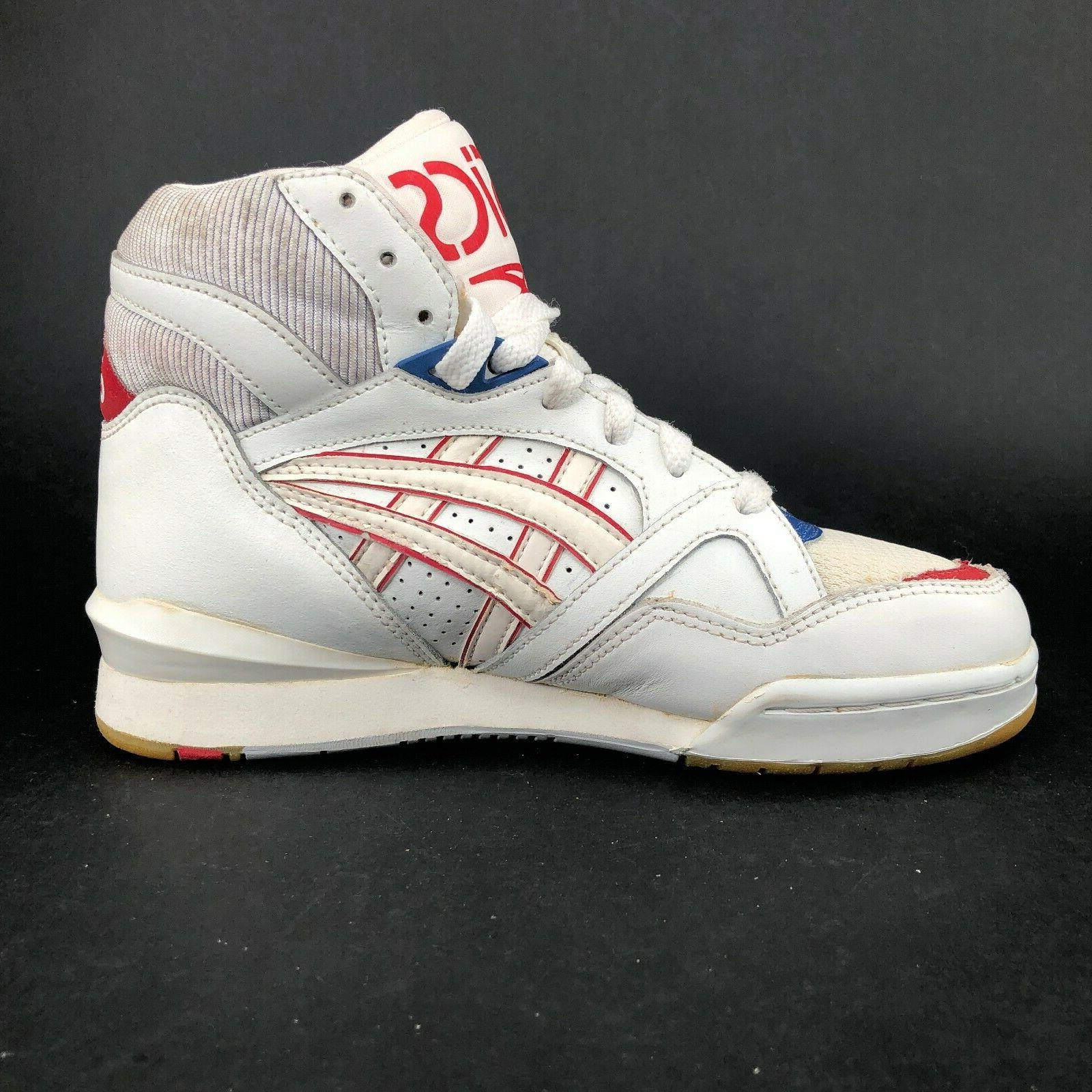 ASICS Red White Blue Top Basketball Lace Ups