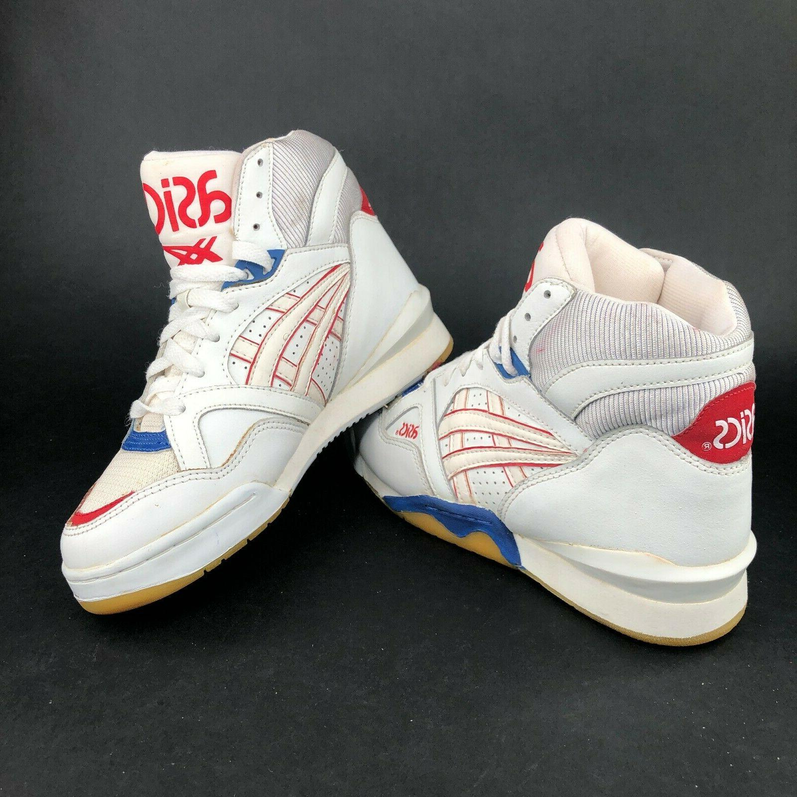 mens 7 red white blue high top