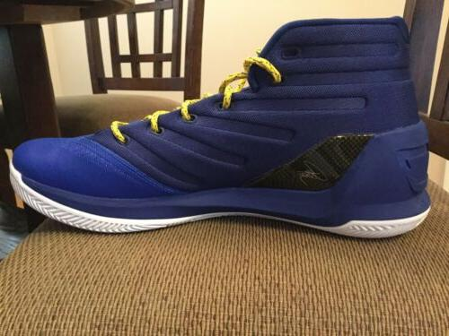 Men's Box Armour Curry 3 Basketball Shoes. 13.