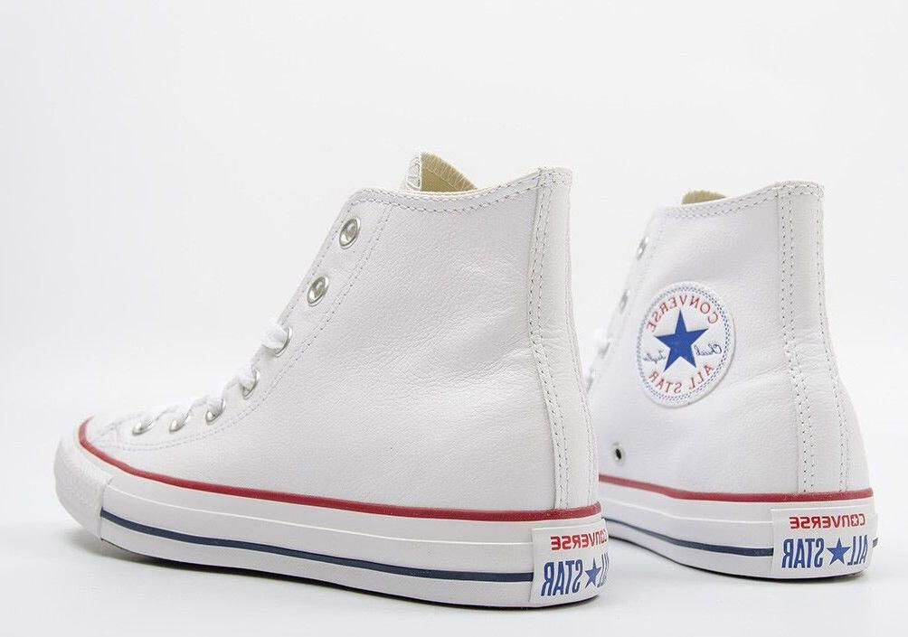 Mens Converse All Leather Optical White