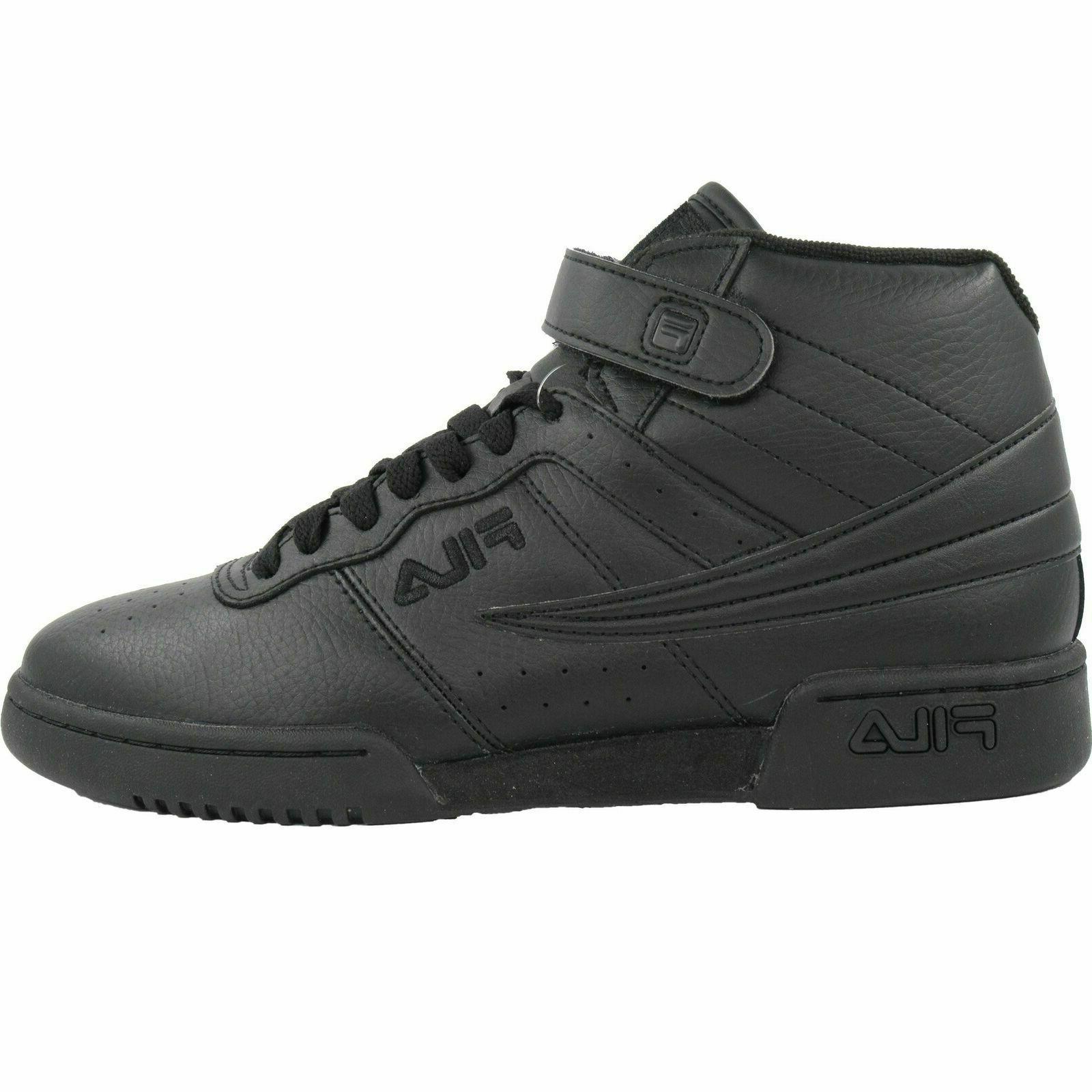 Mens Fila F-13 Classic Mid Basketball Sneakers Black