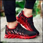 Mens Fire Basketball Sneakers Soft Sole Lace up Shoes Runnin