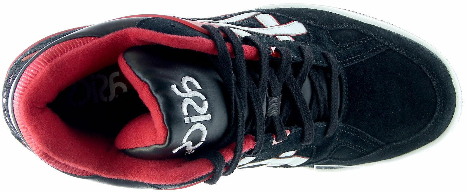Mens Asics High Top Sneakers Black/White/Red