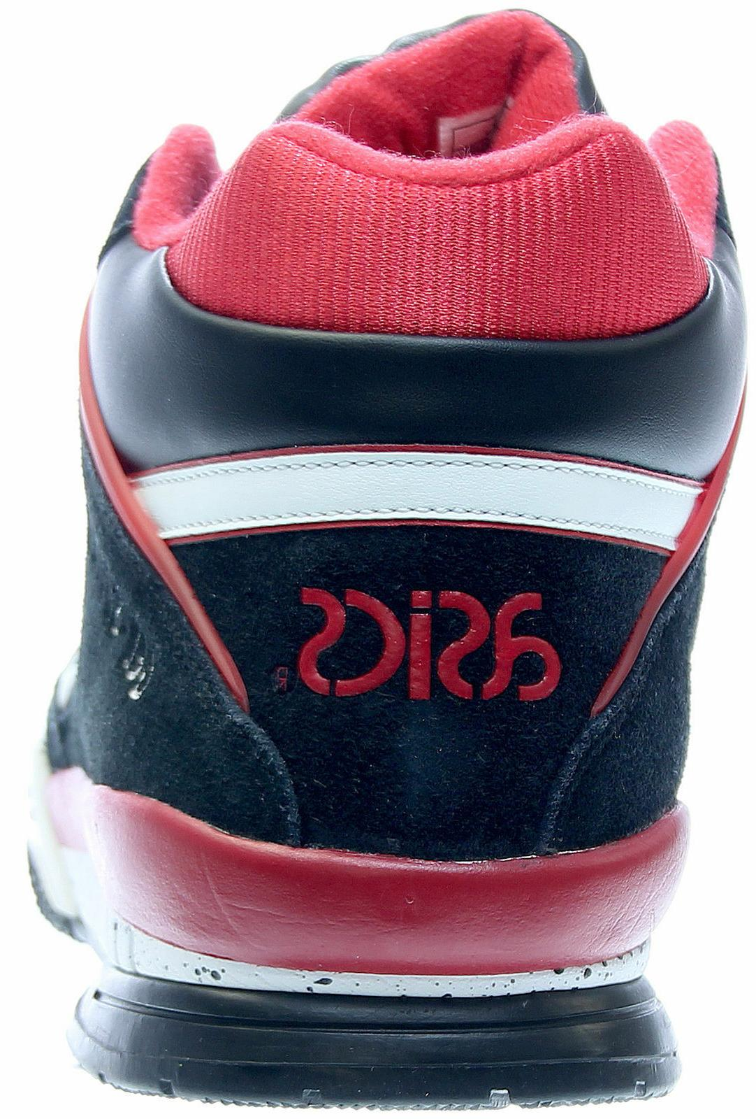 Mens High Top Black/White/Red