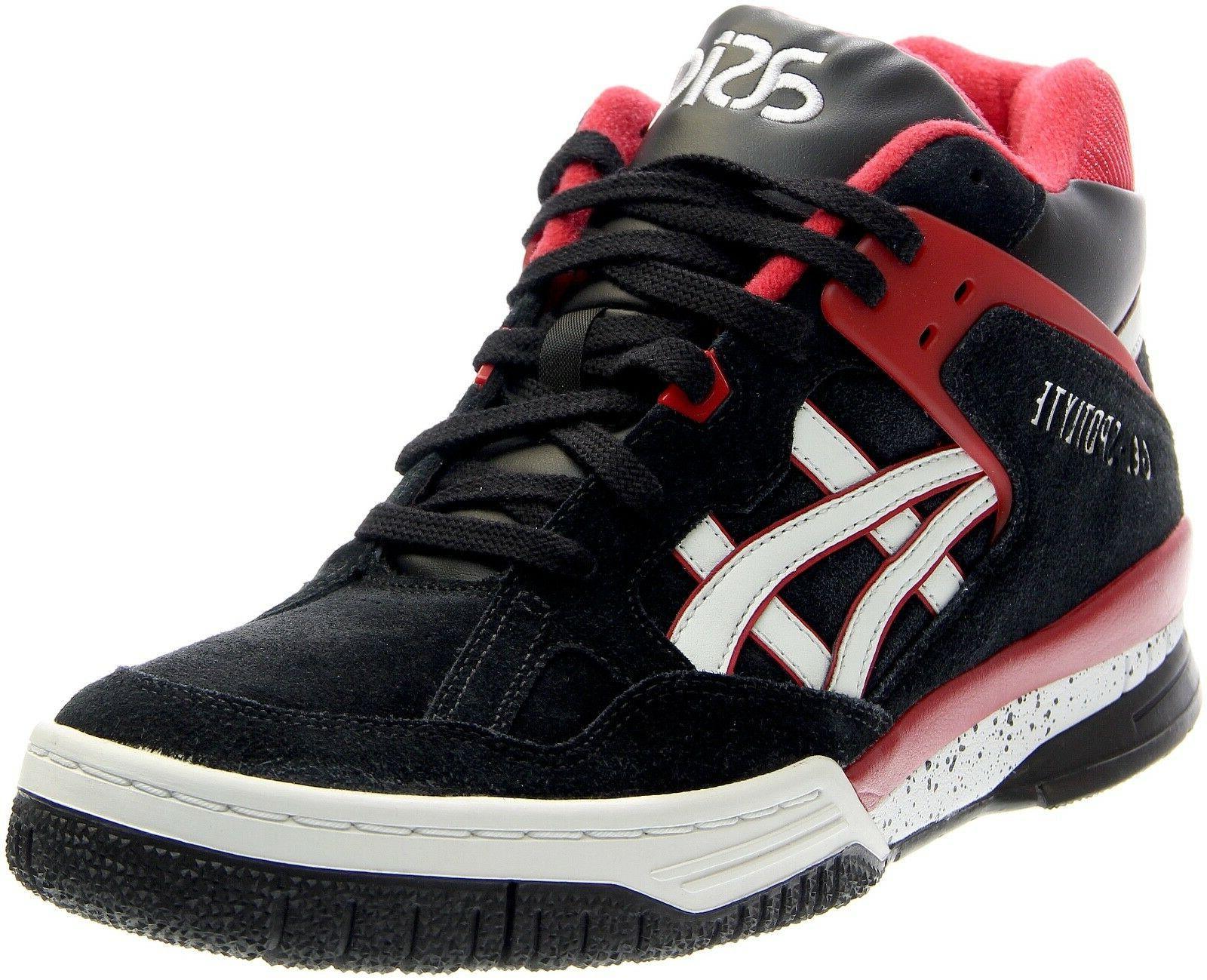 mens gel spotlyte high top sneakers black