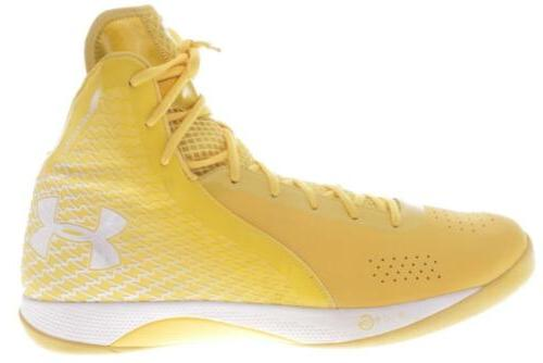mens large size clutchfit yellow basketball shoes