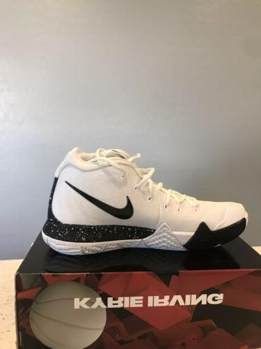 Mens 11.5 Kyrie 4 Shoes AV2296-100 Black Sneakers