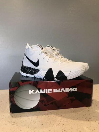Mens Size Kyrie 4 TB Shoes AV2296-100 Black Sneakers
