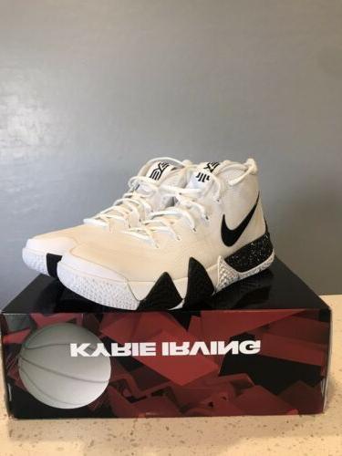 Mens 11.5 Kyrie 4 TB Basketball Shoes AV2296-100 Black Sneakers