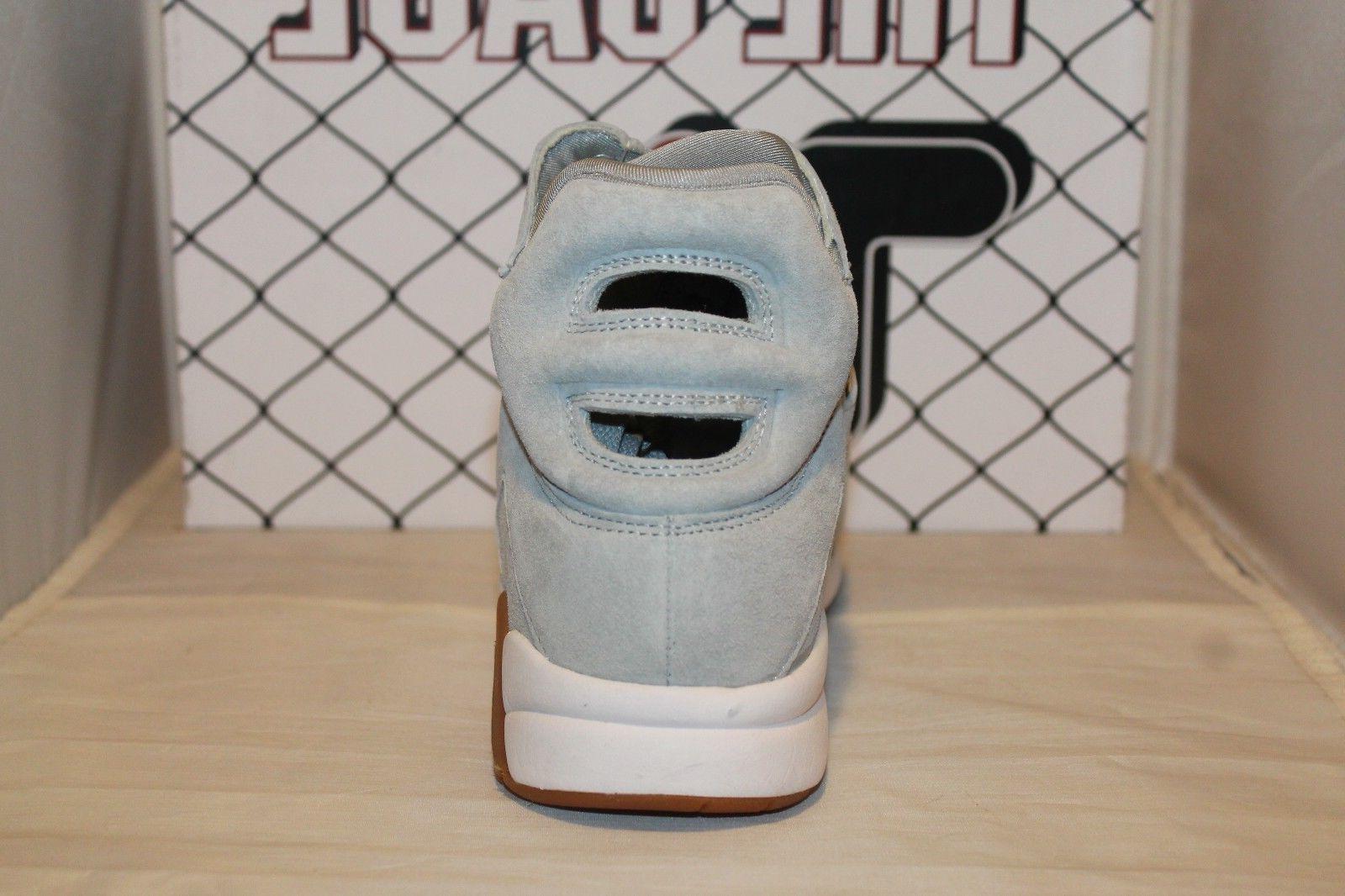 Mens Fila Grey Suede Gum Retro Basketball Shoes