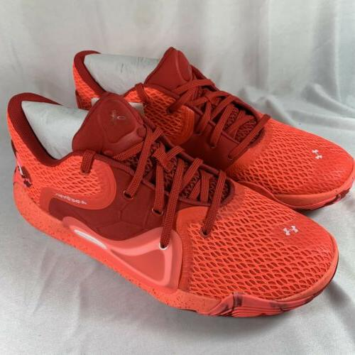 Mens Under Armour M Spawn 2 Shoes Red Mens Size 9 NEW READ
