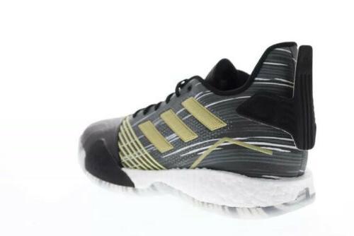 NBA Adidas T-Mac Shoes Black Gold Metallic Rare