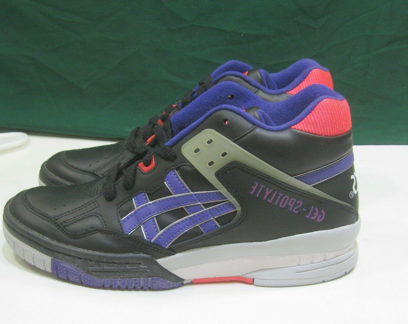 new gel spotlyte retro basketball shoes white