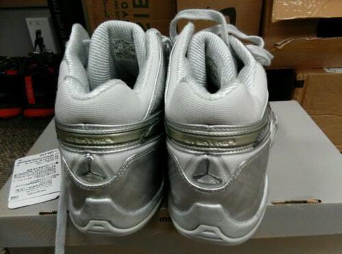 Silver basketball shoes Sz10