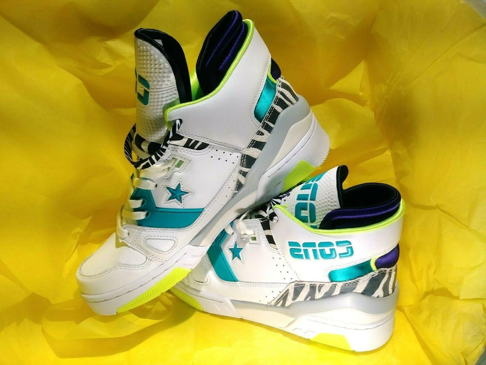 NEW MEN'S ERX-260 Basketball Shoes LEATHER ZEBRA SIZE 10