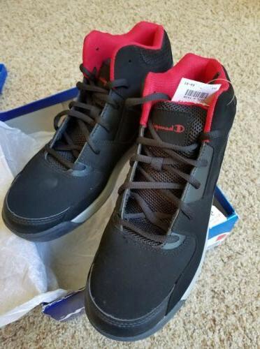 New Champion Men's Overtime Basketball Shoe Black Size 9.5