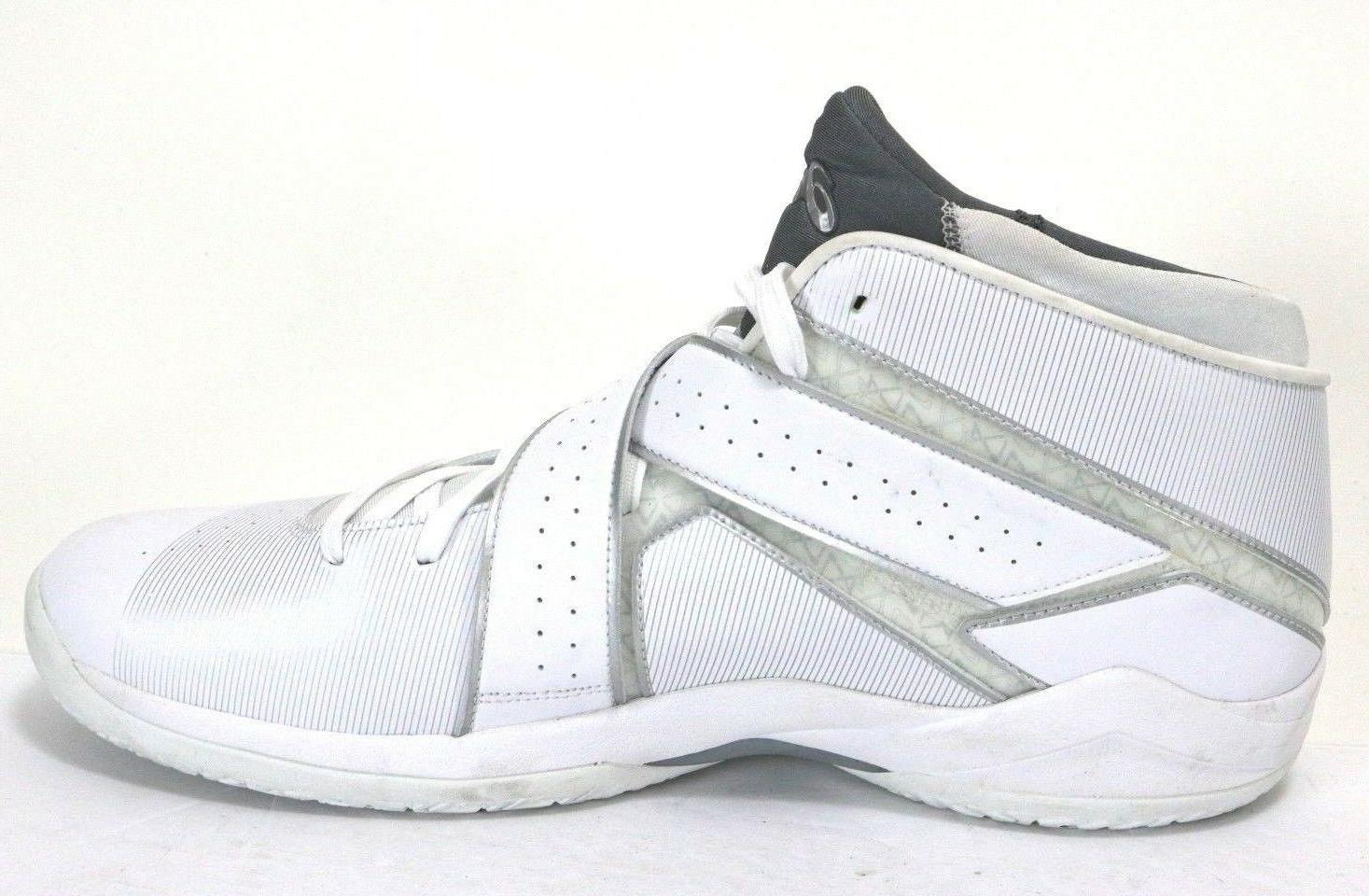 Asics NEW Naked EG02 $120 Men's Hi-Top Basketball Shoes Size Leather White