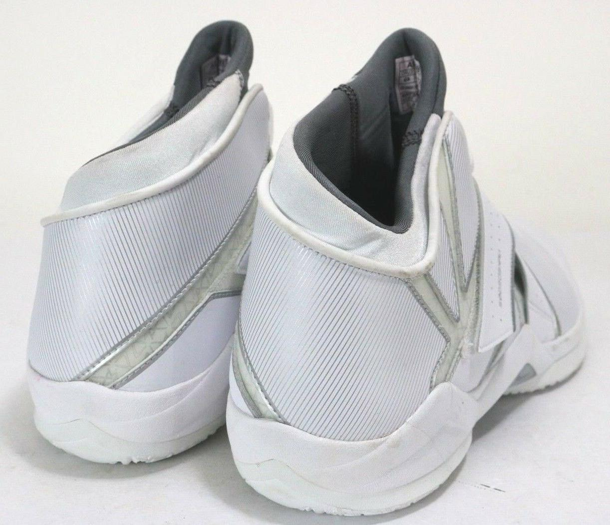 $120 Men's Hi-Top Shoes Size Leather White