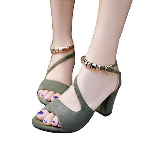 New Beads Summer Sandals Square a and Sandals,Army