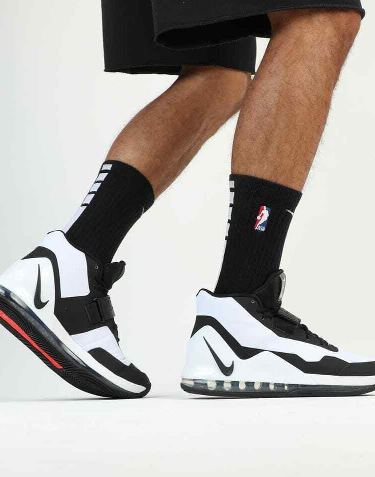 Nike Force Basketball Shoes White Black Oreo Crimson 9 AR0974-101