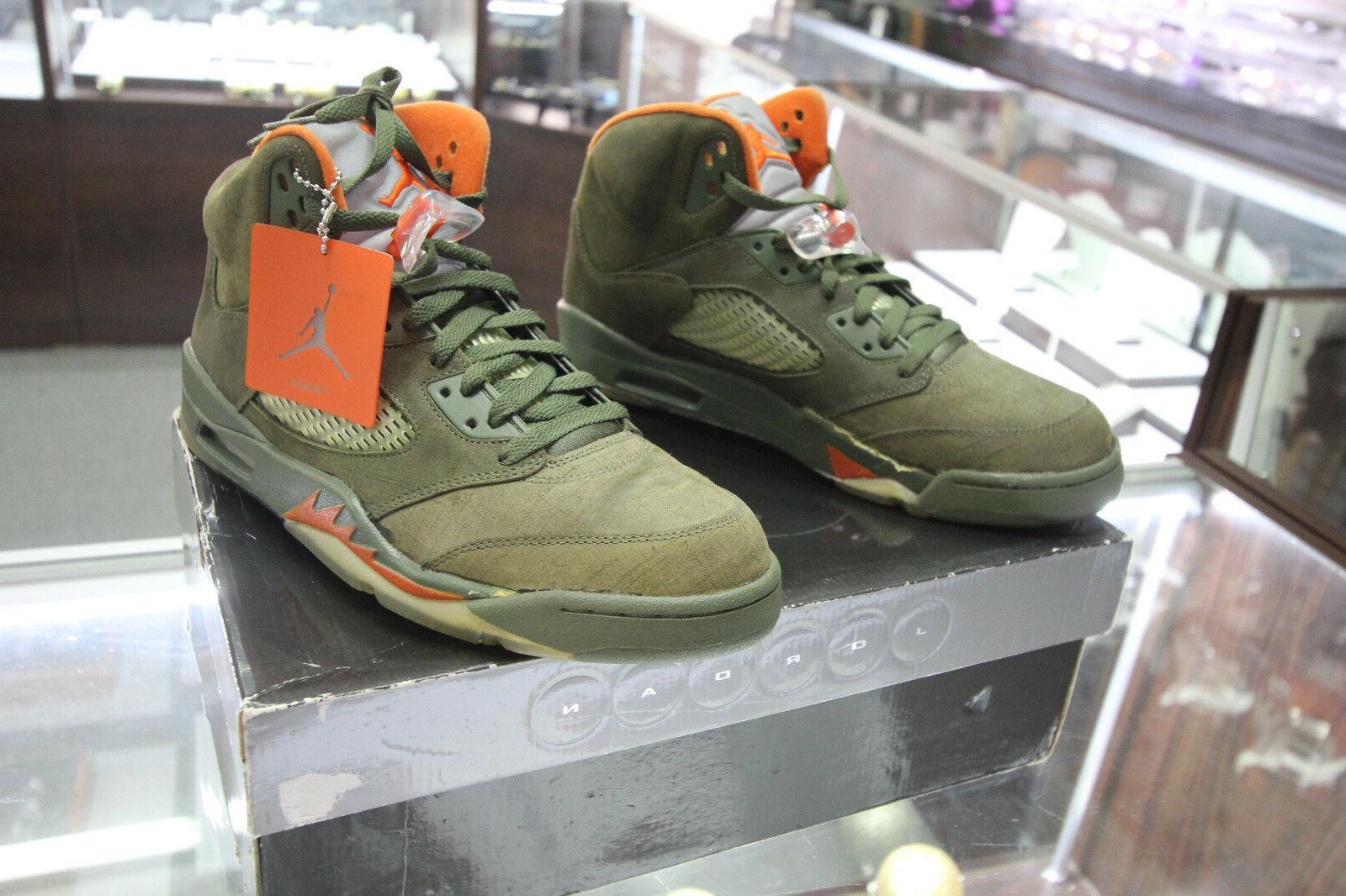 Nike Air Jordan V 5 Retro Army Olive Basketball Shoes VTG 20