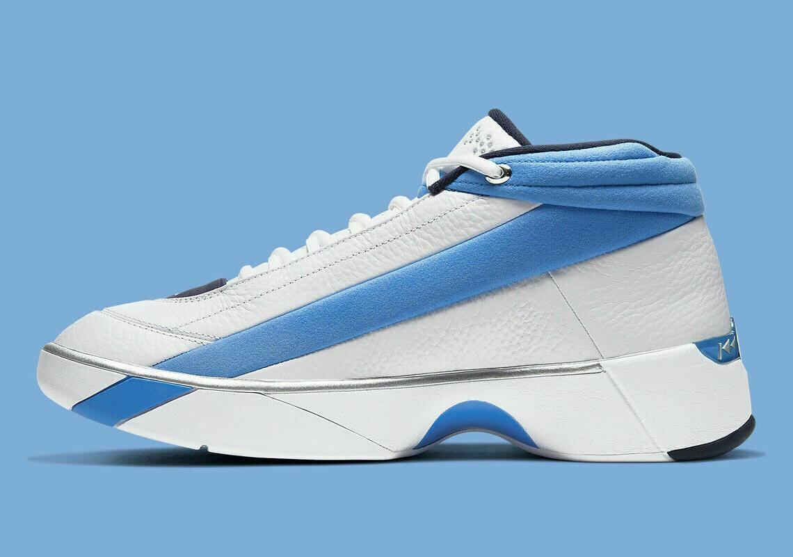 "Jordan Team ""UNC"" White Blue Basketball Shoes NEW"