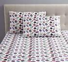 Latitude Run Numbers Cats and Junkfood Bed Sheet Set