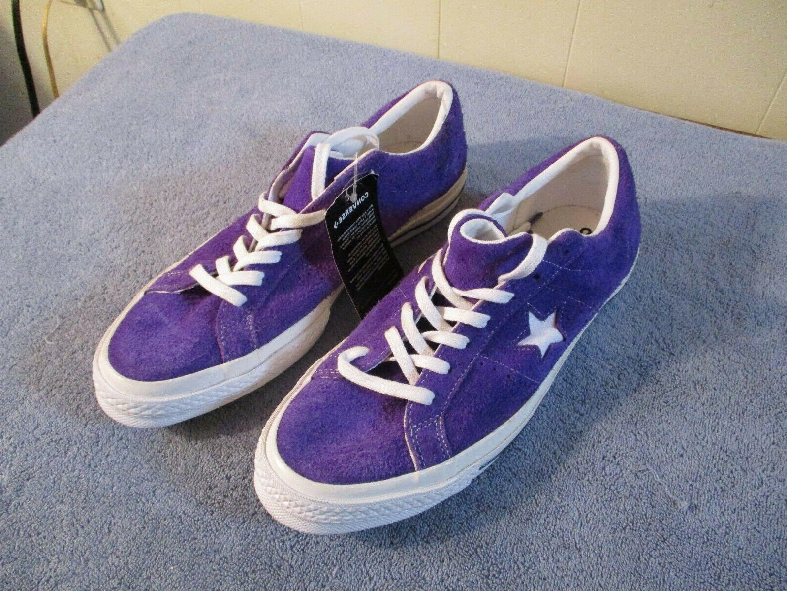 nwt one star purple suede sz 10