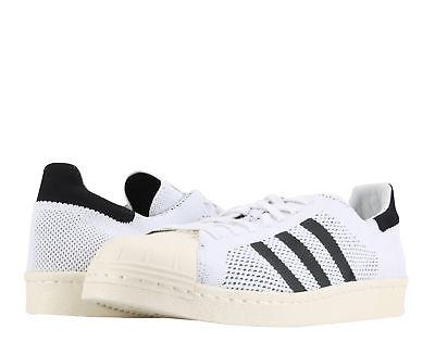 Adidas Original Superstar 80s Primeknit White/Blk Men's Bask