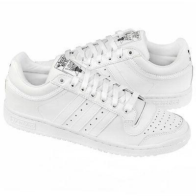 Adidas Originals Top Ten Low TRIPLE WHITE LEATHER Men's Shoe