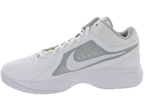 Nike Men's The VIII White/White/Metallic Silver Shoe 15 Men