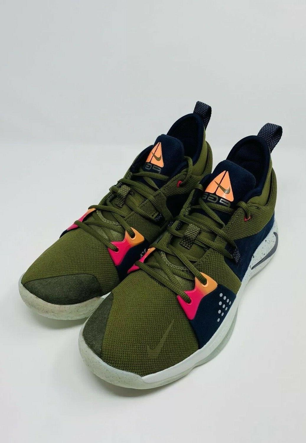 Nike 2 ACG Olive Basketball Shoes AJ2039-300 Men's Size 11