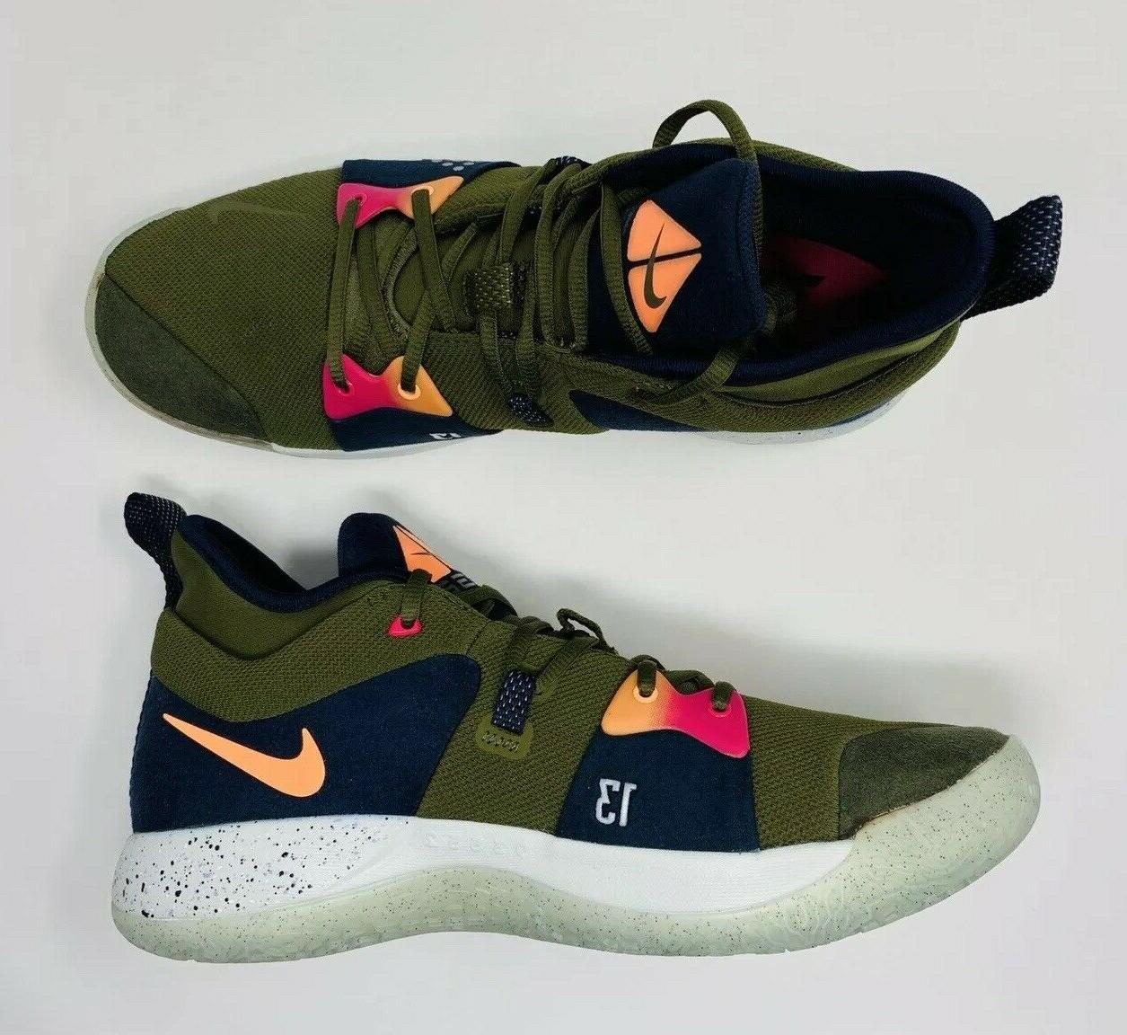 Nike Olive Paul George Basketball Shoes Men's
