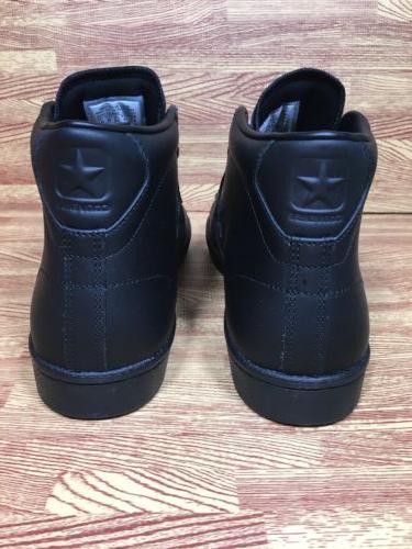 Converse PL 76 Leather 76 Triple Black Mens Size 8.5 155334c