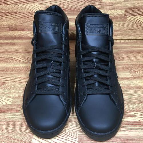 Converse 76 Leather Mid Black 8.5 155334c