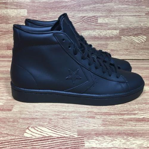 Converse 76 Leather Mid Black Size